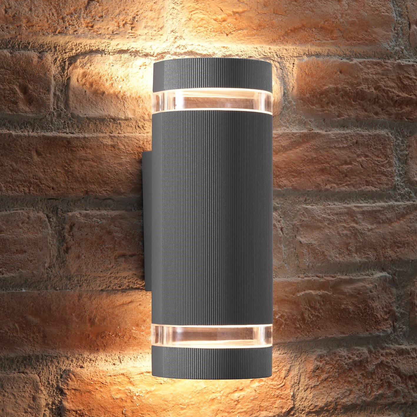 Elton Silver Double And Down Led Wall Light Transform