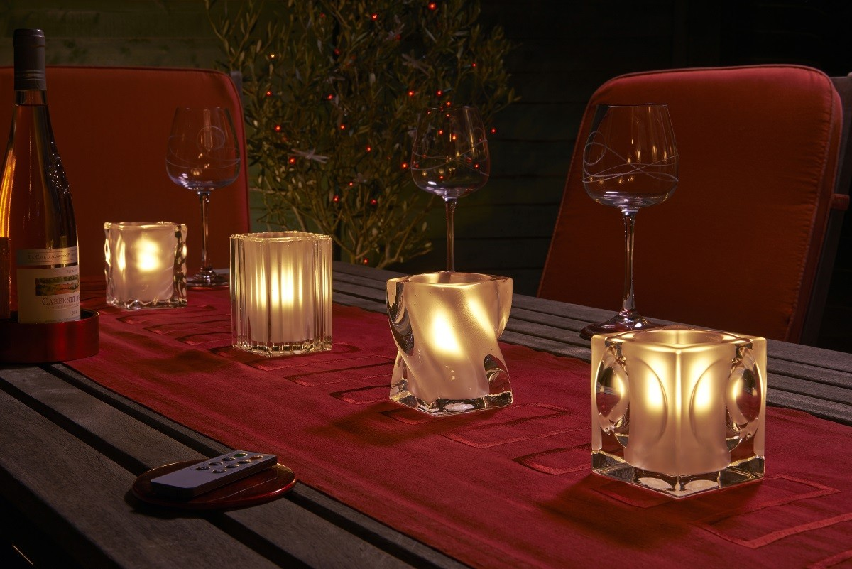 Auraglow Glass LED Candle Holders - Safield Distribution