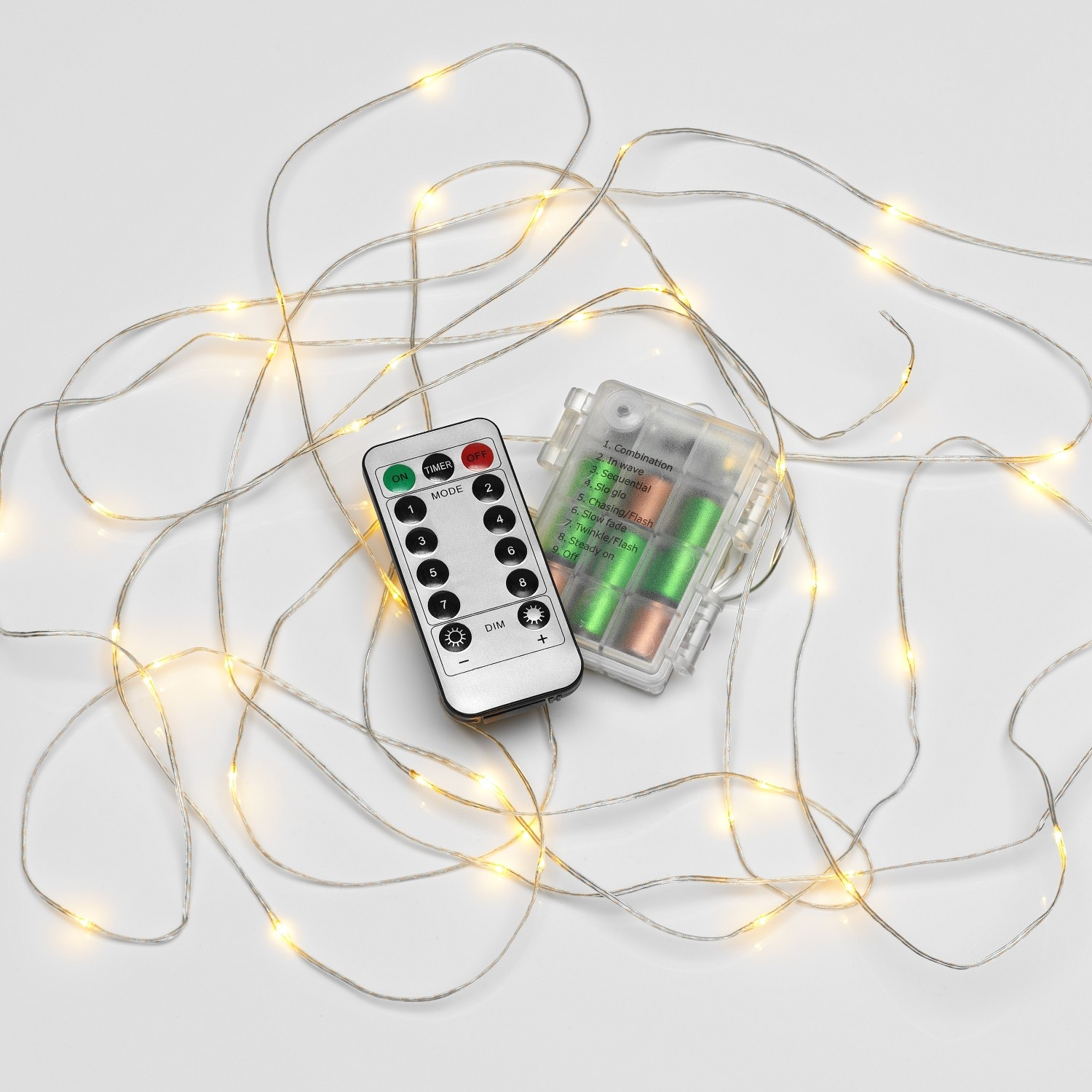 micro led string lights battery operated remote controlled outdoor 5m safield distribution. Black Bedroom Furniture Sets. Home Design Ideas