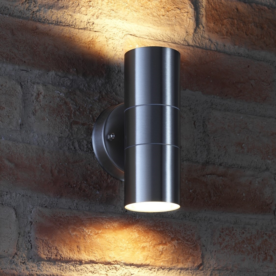 Auraglow Up U0026 Down Outdoor Wall Light   WINCHESTER  Stainless Steel