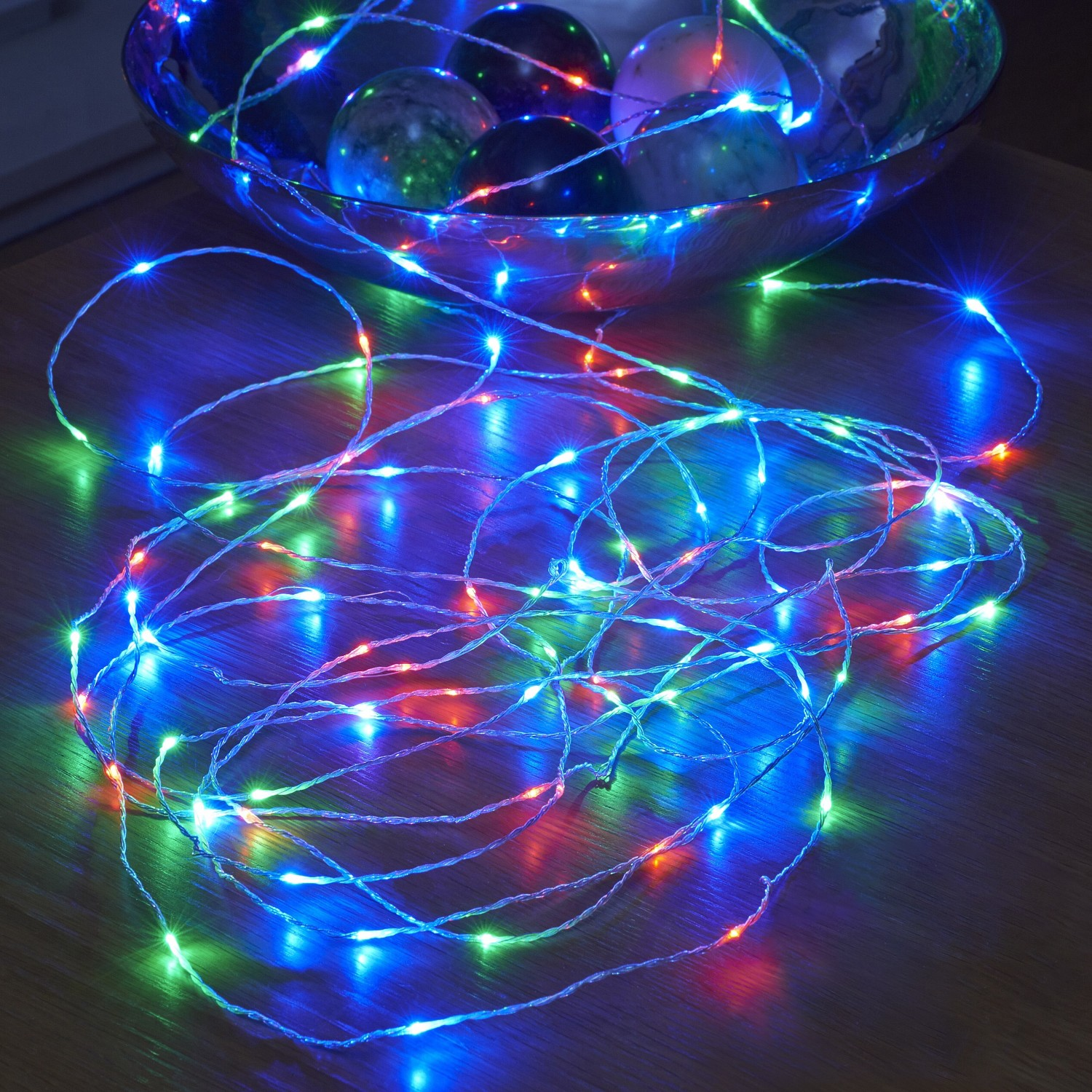 Micro LED String Lights - Battery Operated - Remote Controlled - Outdoor - RGB - 5M - Safield ...