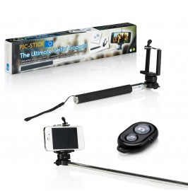 The Original PIC STICK Extendable Monopod Arm Selfie Pole & Bluetooth Remote for iPhone & Android