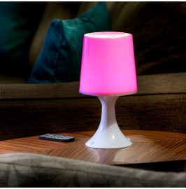 Auraglow Remote Control Colour Changing LED Mood Light Wireless Battery Operated Bedside Table Desk Lamp.3