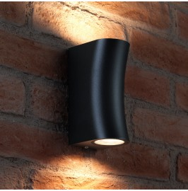 AURAGLOW 14W OUTDOOR DOUBLE UP & DOWN WALL LIGHT - Aston - Grey