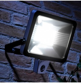 AURAGLOW 50W LED MOTION ACTIVATED PIR SENSOR OUTDOOR SECURITY LIGHT - 300W EQV