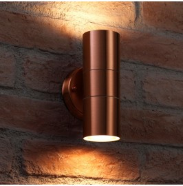 Auraglow Stainless Steel Up & Down Outdoor Wall Light - Winchester