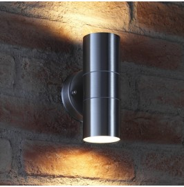 Auraglow Stainless Steel Indoor / Outdoor Double Up & Down Wall Light