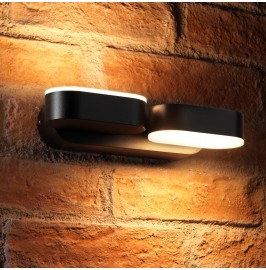 Auraglow 13w Indoor / Outdoor Integrated Twin LED Up & Down Swivel Rotating Wall Light …