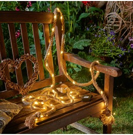 Auraglow Battery Powered 60 LED Indoor or Garden Rope Light