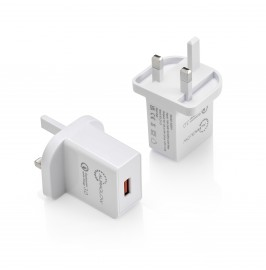 Auraglow Quick Charge 3.0 USB Wall Charger – Twin Pack