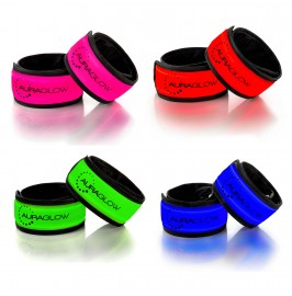 Super Bright High Visibility Light-Up LED Running Arm Bands - Twin Pack.13.11