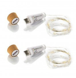 Rechargeable USB Cork Bottle String Light