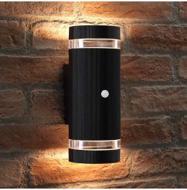 Auraglow PIR Motion Sensor Double Up & Down Wall Light - FLORENCE
