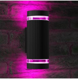 Auraglow Remote Control Colour Changing Up & Down Wall Light - QUEENSBURY