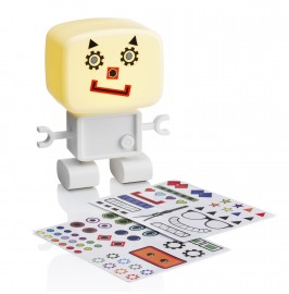 RoboGlow - The Sound & Voice Activated Wireless Children's Night Light with Creative Stickers 1