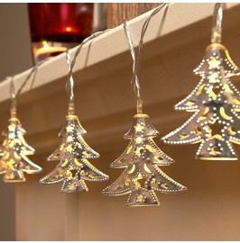 Set of 15 Battery Operated Christmas Tree LED String Lights
