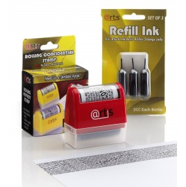 ID Protection Self Inking Stop Identity Theft Erase-It Hide Rolling Privacy Stamp & Refill Pack