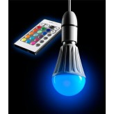 AURAGLOW 10w Remote Control Colour Changing LED Light Bulb B22, Super Bright Warm White Dimmable Version - 2nd Gen - AG176