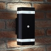 Auraglow PIR Motion Sensor Double Up & Down Wall Light - KINGSTONE