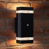 Auraglow Dusk Till Dawn Sensor Double Up & Down Wall Light - THRUXTON