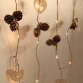 Auraglow Set of 15 Scented Cinnamon Pine Cone Battery Operated Indoor Christmas LED Festive String Lights