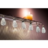 Auraglow Set of 12 Battery Operated 2.5m Indoor String LED Fairy Lights with Warm White Glow - Teardrops.3