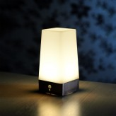 Auraglow Wireless PIR Motion Sensor Table Lamp Super Bright LED Battery Powered Hallway Night Light