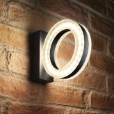 Auraglow 12w Indoor / Outdoor IP54 Warm White 3000K, 730lm, 60 LED Up & Down Wall Light - Circle 22