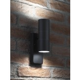 Black Up & Down Wall Light