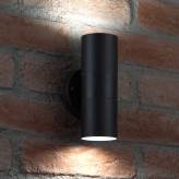 Auraglow Stainless Steel Up & Down Outdoor Wall Light - Winchester - Black