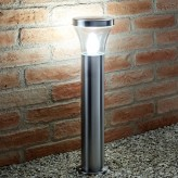 Auraglow IP44 Stainless Steel Outdoor Garden Path Post Light - 5w Warm White LED Light Bulb Included