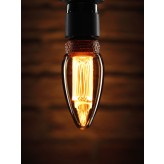 Auraglow Mysa Vintage Filament Candle LED Light Bulb - E14