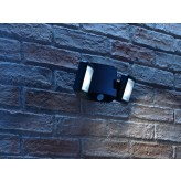 Auraglow Outdoor Battery Operated LED PIR Twin Security Light