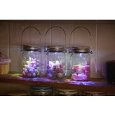 Solalux Set of 3 Remote Control Colour Changing Battery Operated Glass Jar Lights LED Lanterns.1.4