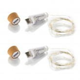 Rechargeable USB Cork Bottle String Light .1