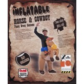Inflatable Horse and Cowboy Fancy Costume Dress Suit.3