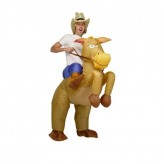Inflatable Horse and Cowboy Fancy Costume Dress Suit.1