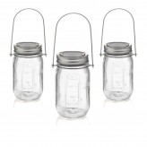 Solar Power Glass Jar Garden Lights 3 PACK1
