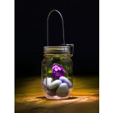 Solar Power Glass Jar Garden Lights 3 PACK4