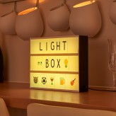Auraglow Colour Changing Cinematic LED Light Box with Emojis