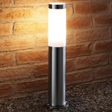 Auraglow IP44 Stainless Steel Outdoor Garden Path Post Light - 5w White LED Light Bulb Included