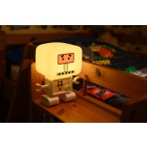 RoboGlow - The Sound & Voice Activated Wireless Children's Night Light with Creative Stickers 7