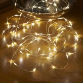 Auraglow Battery Operated 50 Micro LED Outdoor Fairy String Lights - Warm White