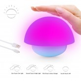 Auraglow Colour Changing LED Mood Light Wireless Battery Operated / USB Bedside Table Desk Touch Lamp.6114